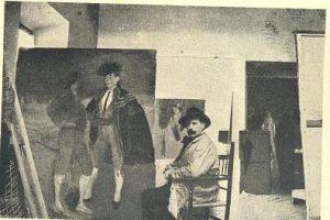 Zuloaga en su estudio