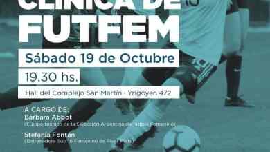 Photo of Clínica de fútbol femenino