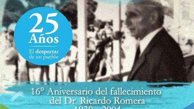 Photo of ANIVERSARIO DEL FALLECIMIENTO DEL DR. RICARDO ROMERA