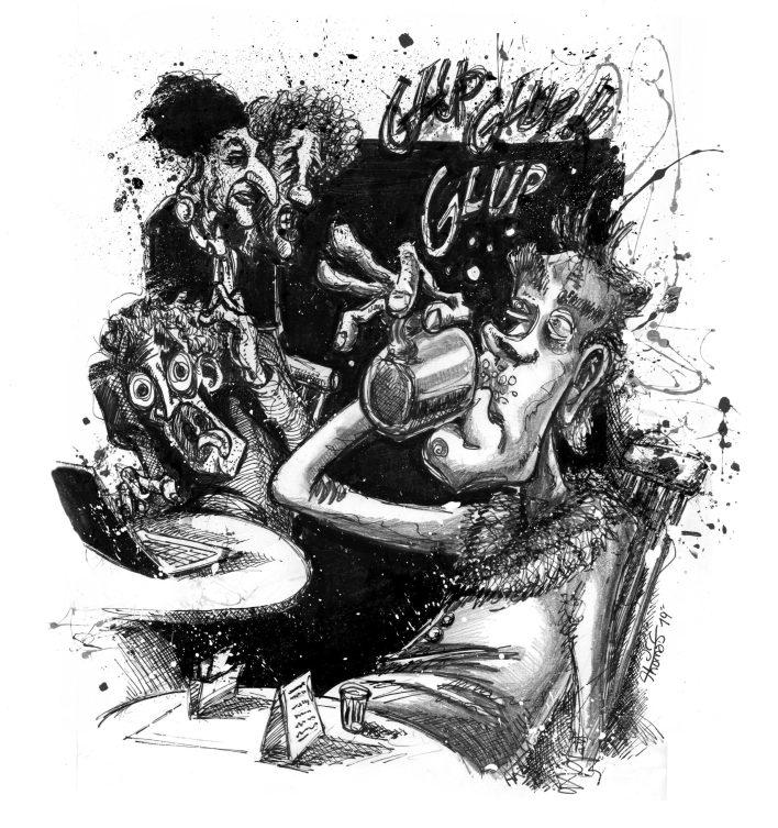 El último café del mundo - ilustra J.C. Thomas