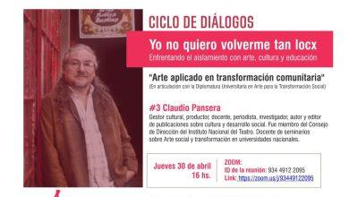 Photo of Ciclo de diálogos: #3 Claudio Pansera