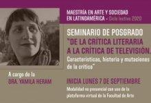 Photo of De la crítica literaria a la crítica de televisión. Dra. Yamila Heram