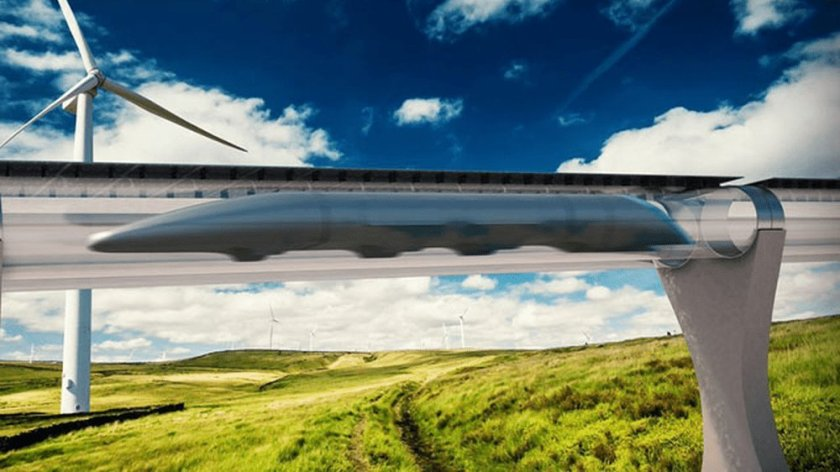 Vision futuriste hyperloop