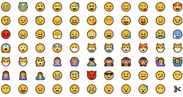 Emoticones, ancêtres des emojis