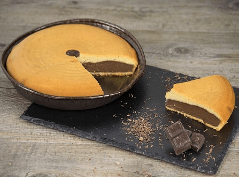 gâteau nature intérieur chocolat