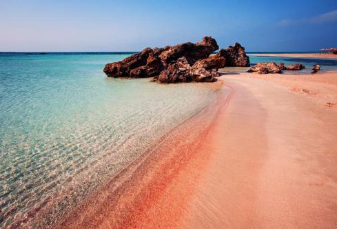 85530994 - summer elafonissi island on crete, greece