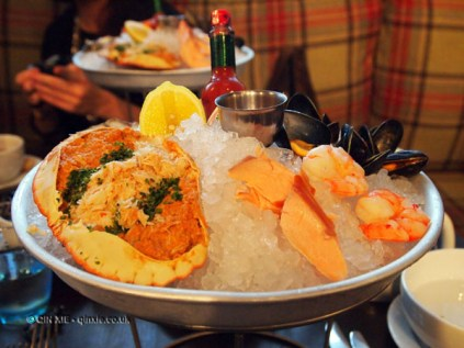 Seafood platter at Malmaison in Aberdeen