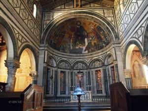 Abbazia di San Miniato al Monte interior, Florence, Italy