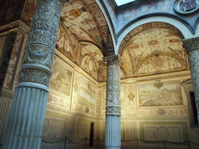 Arches in the Palazzo Vecchio, Florence, Italy