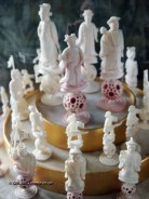 Chess set at Balfour Castle