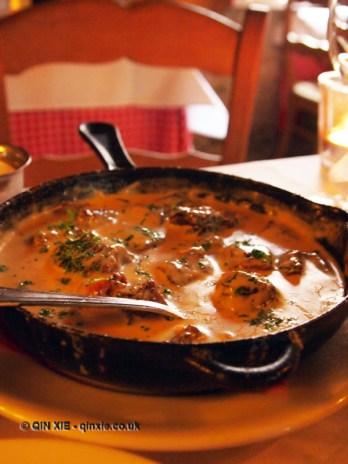 Eel stew, Bruges, Belgium