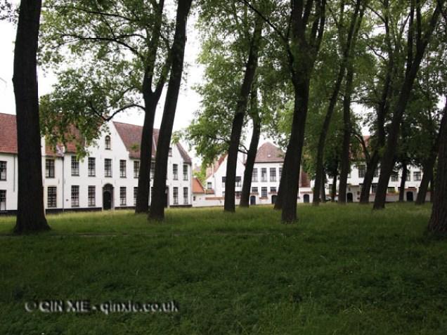 Green courtyard, Bruges, Belgium