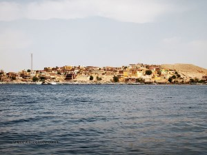 Houses by Philae Temple, Lake Nasser
