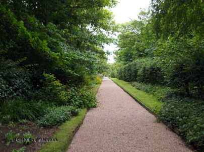 Path in garden at Balfour Castle