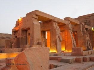 Temple at dusk, Ptolemic Temple, Kom Ombo