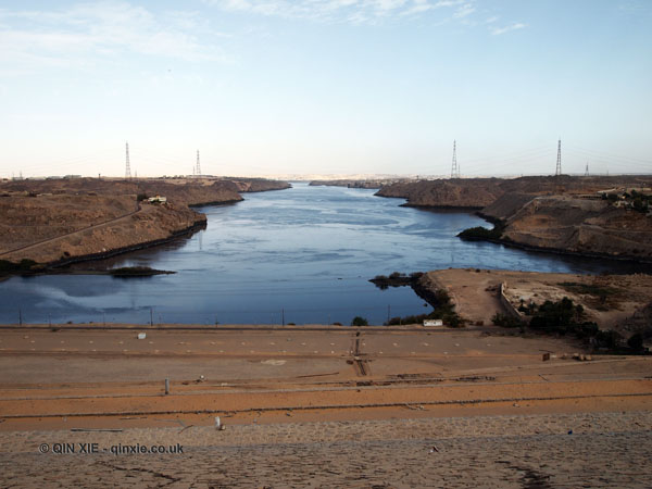 View from High Dam at Aswan