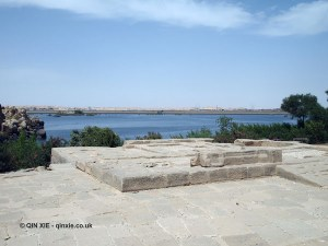 View out to Lake Nasser, Philae Temple, Lake Nasser