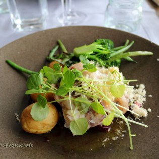 Hake and new potatoes at Salt and Sill in Bohuslan, West Sweden