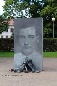 Orphans sculture in Gothenburg, West Sweden