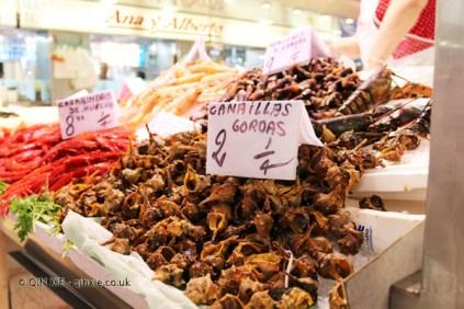 Sea shells, Mercado Central, Valencia