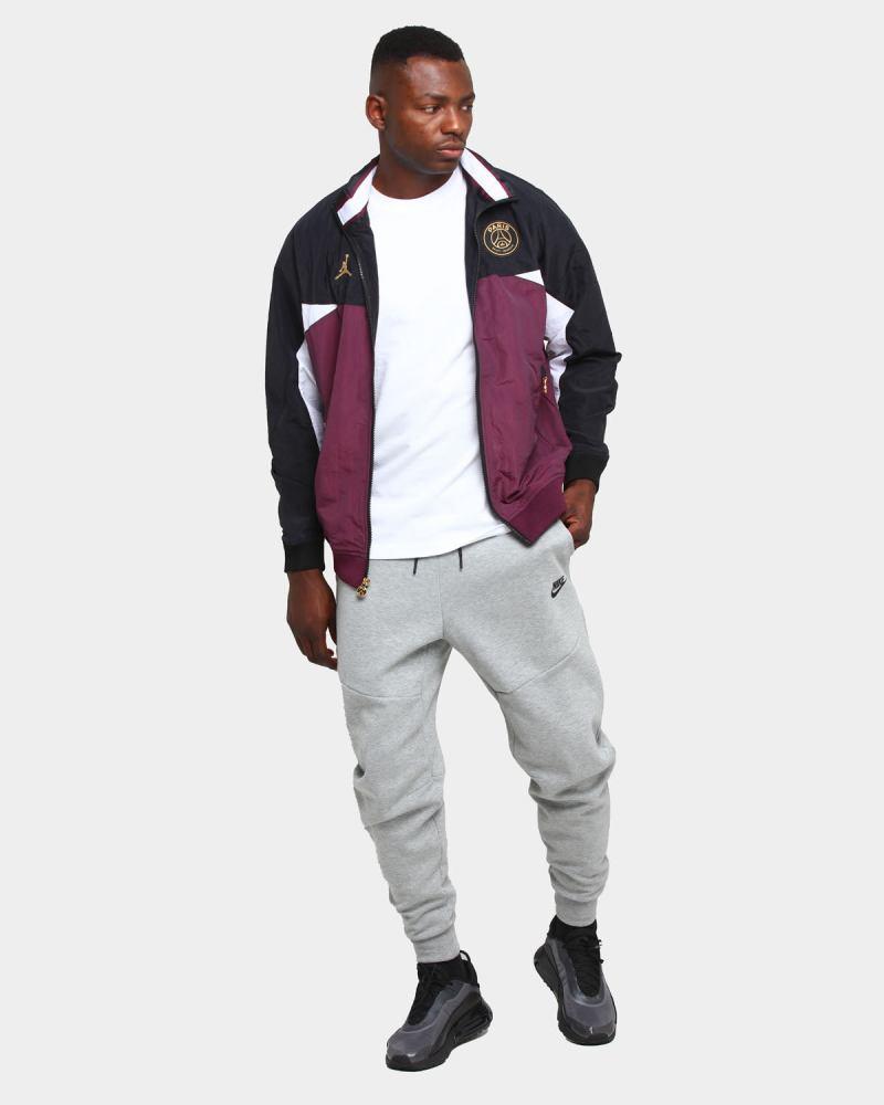 jordan psg full zip jacket black bord white gold