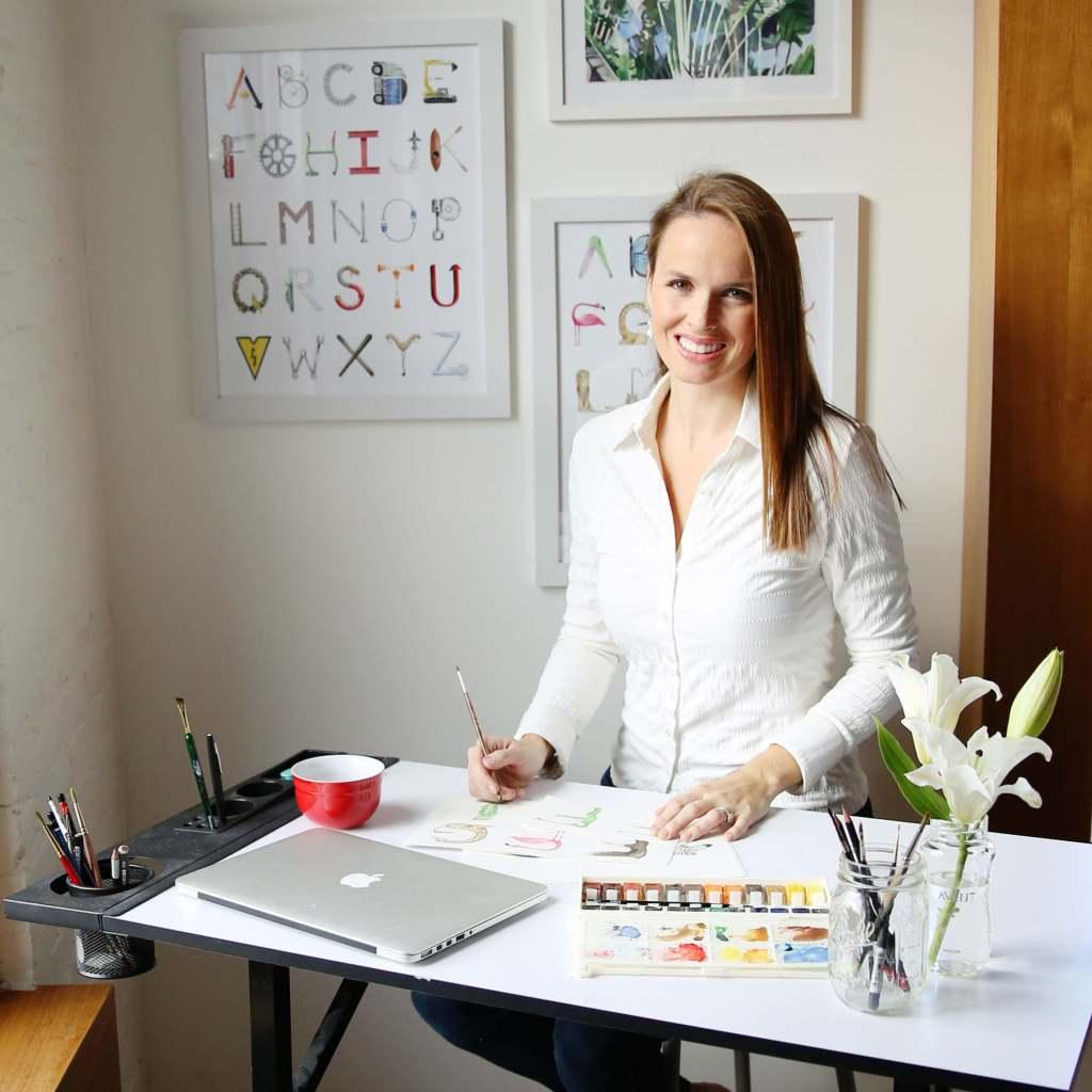 Sally King McBride in her studio