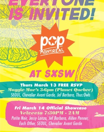 Pop Montreal at SXSW poster