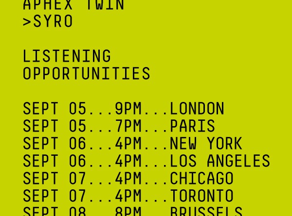 Syria listening party flyer Aphex Twin