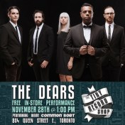 The Dears The Tiny Record Shop In-Store poster