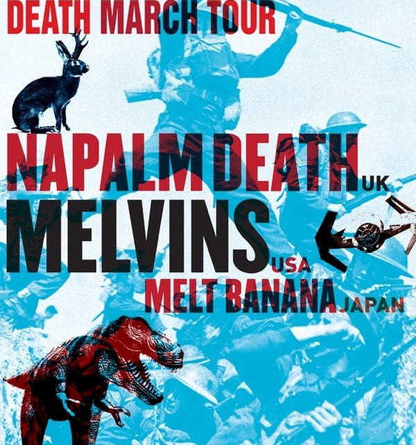 The Melvins Napalm Death Savage Imperial Death March tour poster