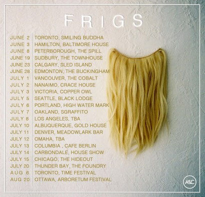 FRIGS tour dates poster