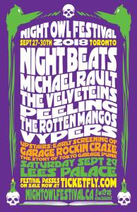 Night Beats, Michael Rault, The Velveteins & more! @ Lee's Palace