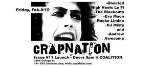 Crapnation #11 w/ Ghosted HHLF Blackouts Eva Moon Rocko & more! @ Coalition: T.O