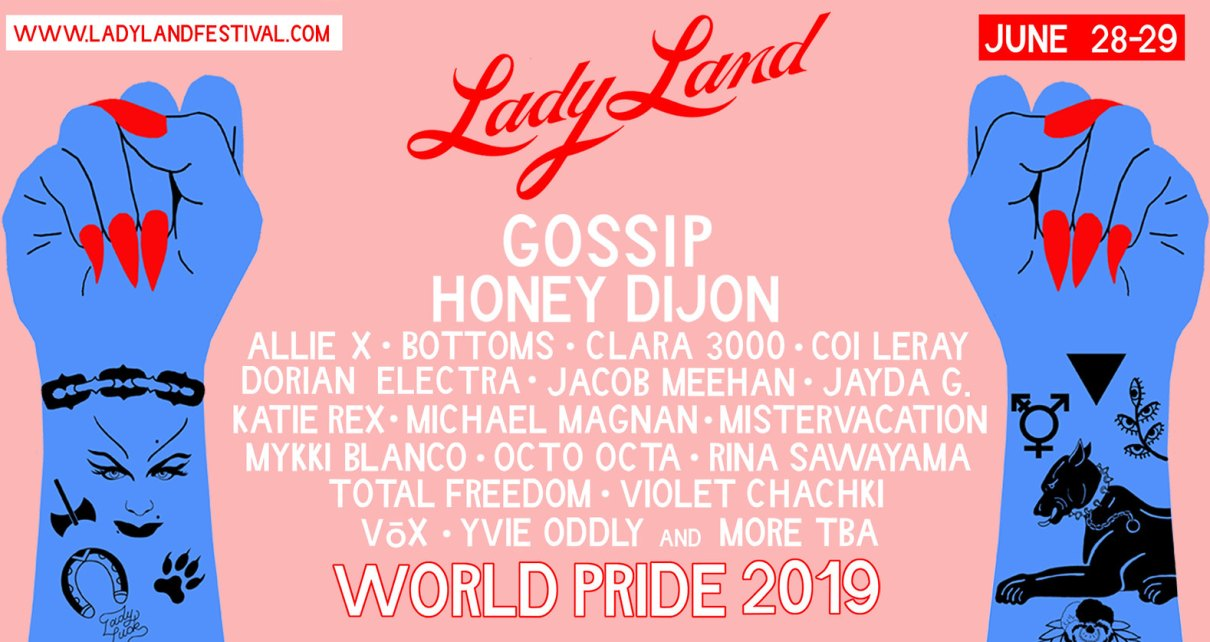 LadyFag's LadyLand festival banner