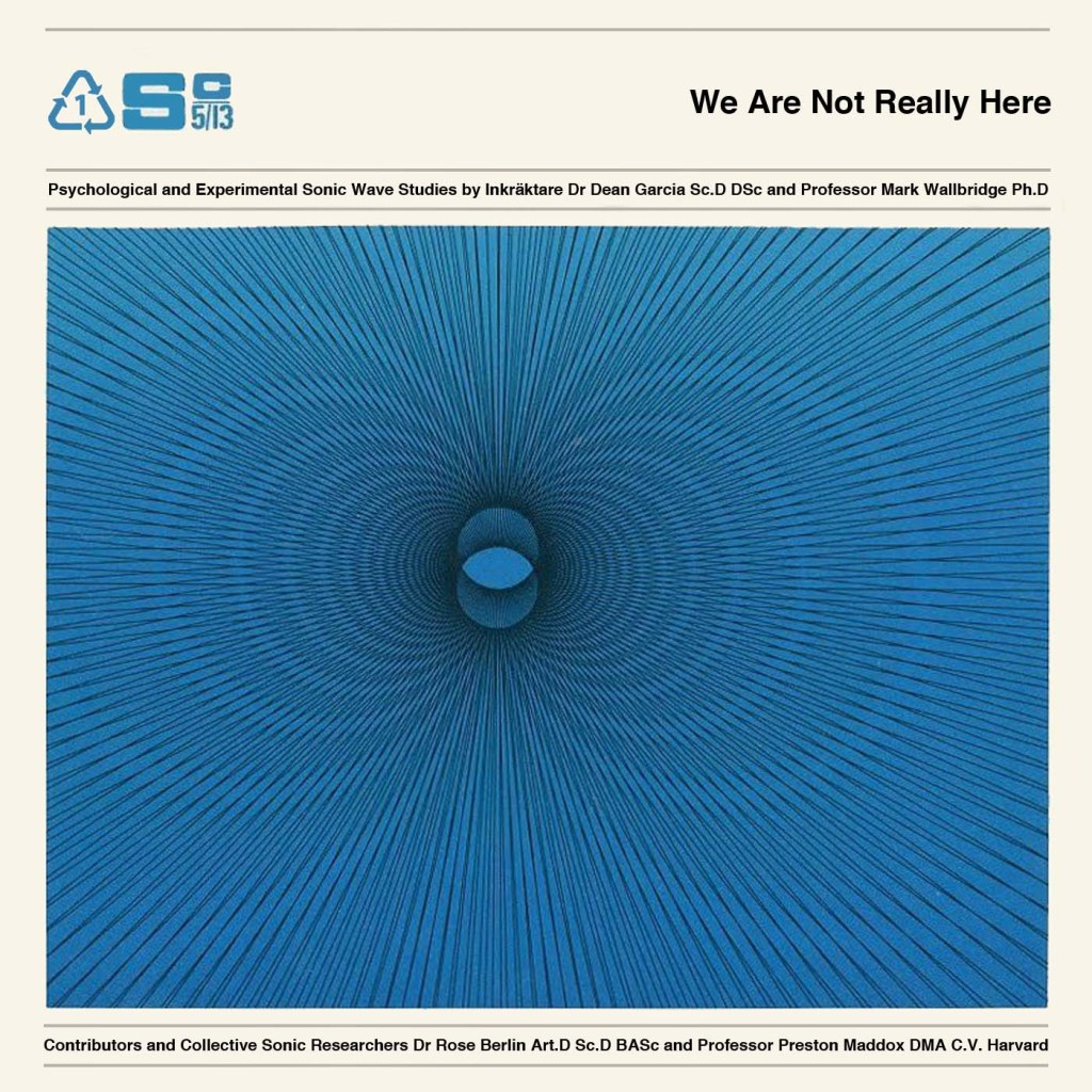 We Are Not Really Here Album cover artwork
