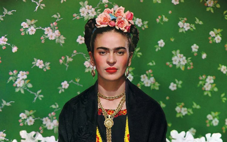 frida on bench, Nickolas Muray