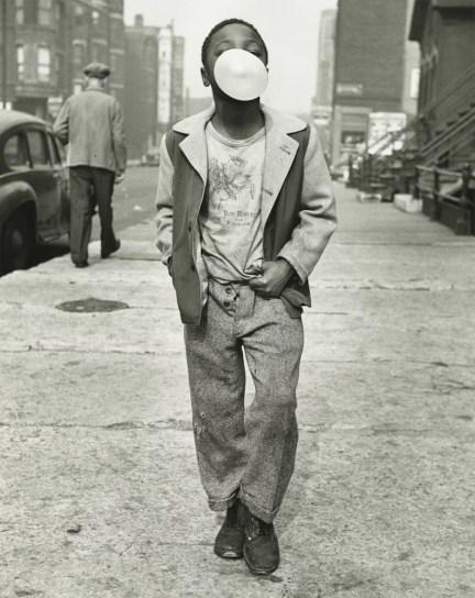 Black Chicago, Marvin E. Newman Boy Blowing Bubble Gum, Chicago