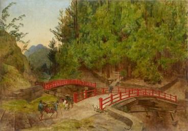 Pont sacré et pont banal à Nikko par Félix Élie Régamey (1844-1907) © RMN-Grand Palais (MNAAG, Paris) / Thierry Ollivier