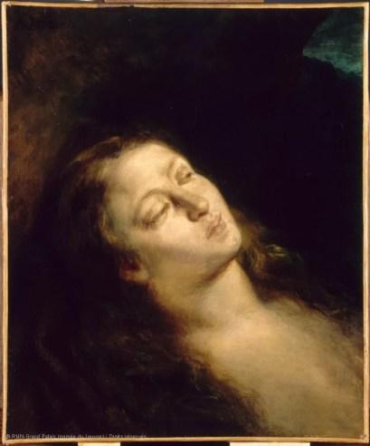 """Eugène Delacroix, """"Madeleine dans le désert"""", 1845"""