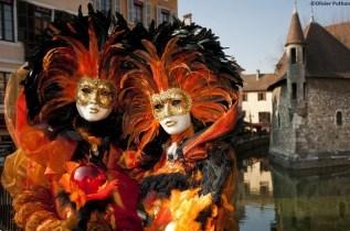 Couple de masques, Carnaval vénitien d'Annecy © Olivier Puthon