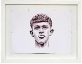 THE KID, Timmy, 2014 - 70 x 49 cm ; stylo BIC® noir sur papier. ©Charly Gosp. Courtesy: l'artiste et Collection BIC