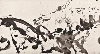 Zao Wou-Ki, Sans titre, 2006 Encre de Chine sur papier. Collection particulière Photo : Naomi Wengner Zao Wou-Ki © ADAGP, Paris, 2018