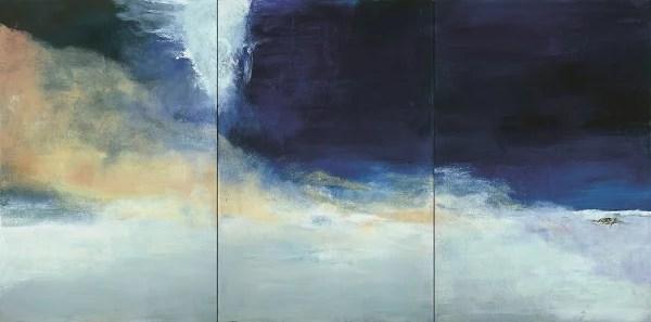 Zao Wou-Ki, Le vent pousse la mer, 2004. Collection particulière Photo : Dennis Bouchard Zao Wou-Ki © ADAGP, Paris, 2018