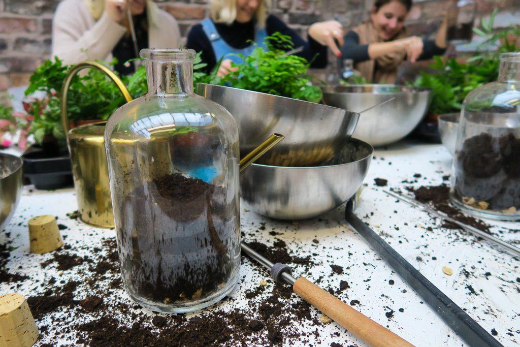 Geo-fleur - terrarium workshop