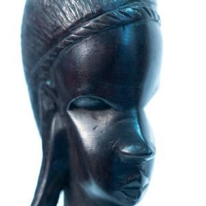 ebony maasai bust, closeup
