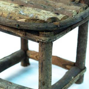 miniature grapevine chair, closeup