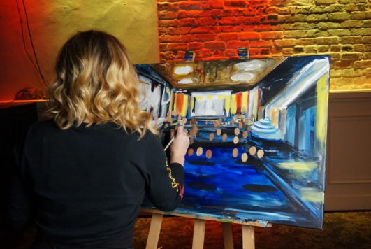 paintig with a twist on undercover boss