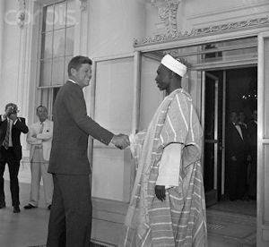 Prime Minister Abubakar Tafawa Balewa with President JF Kennedy