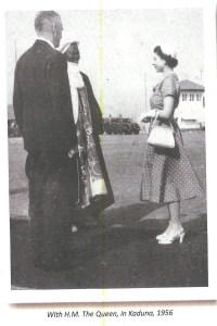 Sir Ahmadu Bello with Her Majesty The Queen of England, Queen Elizabeth II.