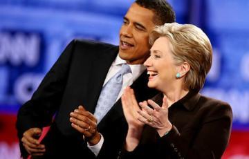 Barack Obama and Hillary Clinton